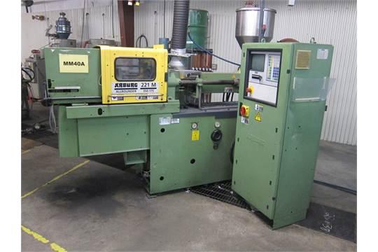 38 ton Arburg model 221M-350-75 injection molding machine