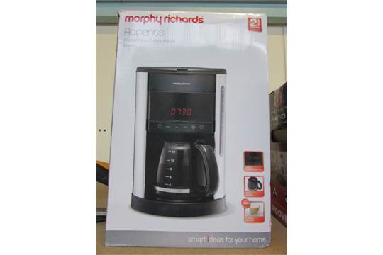 MORPHY RICHARDS ACCENTS DIGITAL FILTER COFFEE MAKER - BLACK