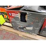Spear and Jackson 1600w Electric lawn mower, tested working and boxed but the back roller is broke