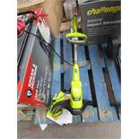 Ryobi one+ cordless grass trimmer, unable to check as no battery but does come with charger and