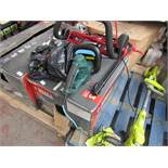 2x Items being a Spear and Jackson 1300w Electric Lawn mower and a McGregor electric hedge