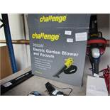 Challenge Electric Garden Blower/Vac, tested working and Boxed, RRP œ40