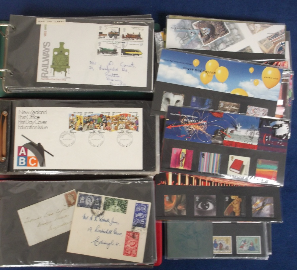 Lot 7 - Stamps and Covers, 2 cover albums containing a collection of mainly GB covers, the majority QE2 plus