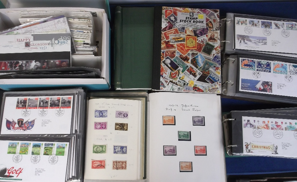 Lot 3 - Stamps & Covers, a mixed selection inc. stockbook with mint and used Commonwealth, QV onwards, small