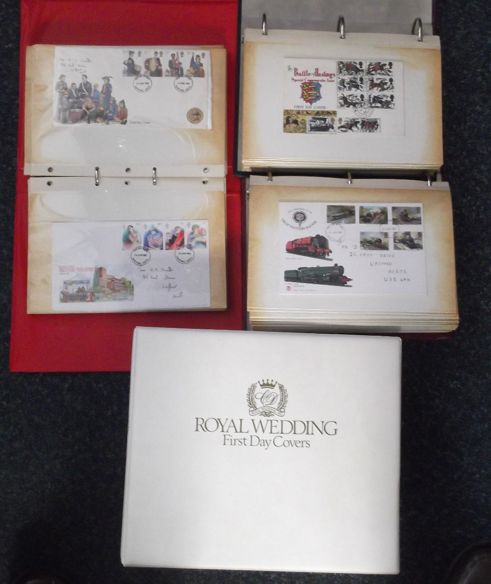 Lot 6 - First Day Covers, GB Cover collection 1966-1991, mostly with hand-written addresses in 3 albums,