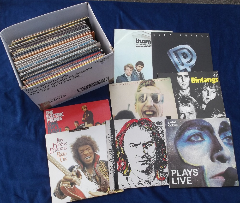 """Lot 44 - Vinyl Records, a collection of 60+ albums and 12"""" singles, to include demo discs, some"""