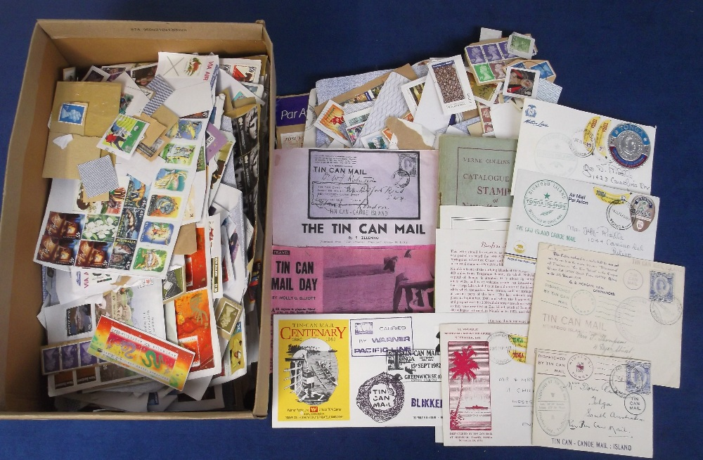 Lot 41 - Stamps, a mixed selection from Australia, New Zealand and Tonga, inc. selection of tin can mail