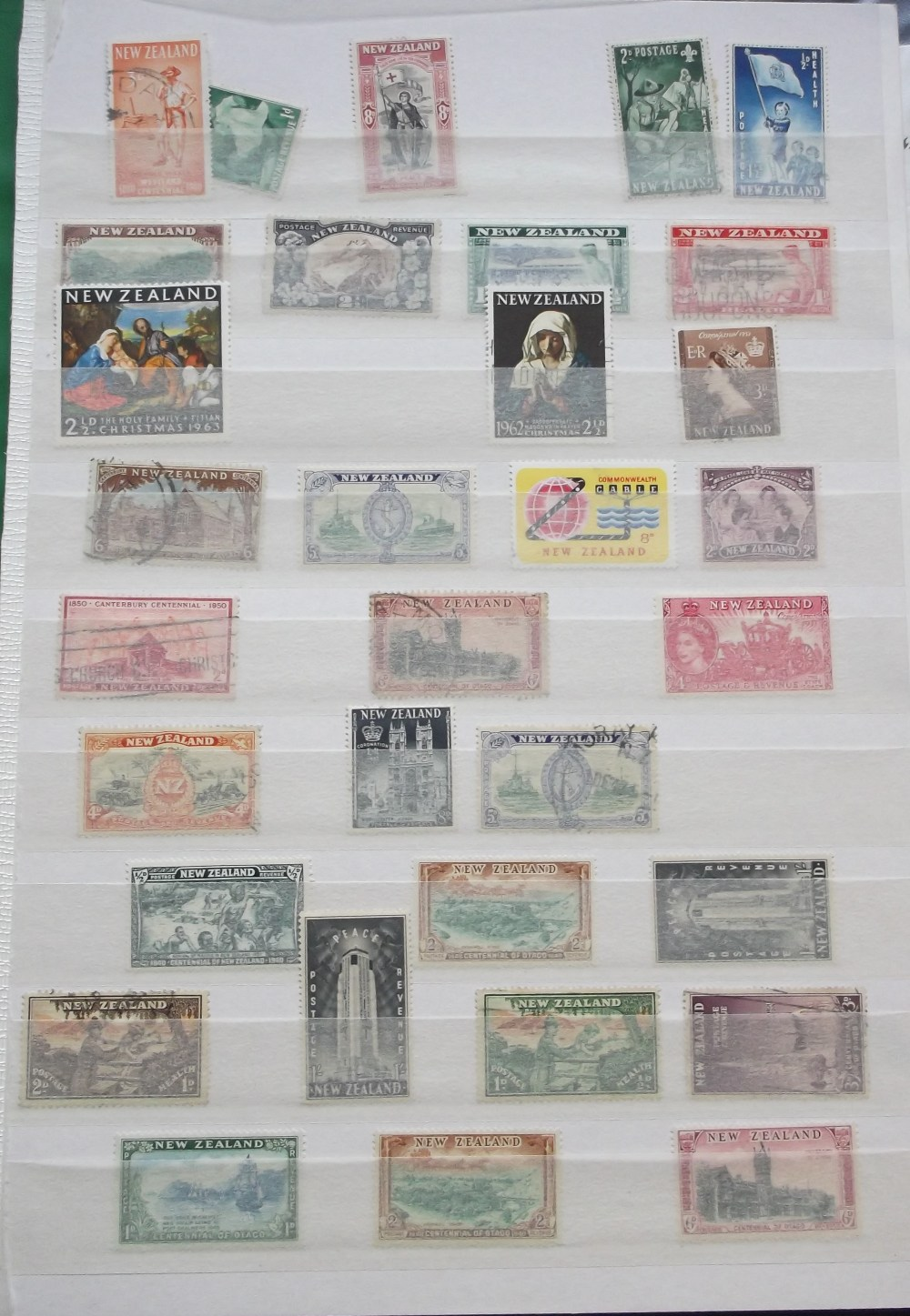Lot 13 - Stamps, New Zealand, a collection of mint and used stamps in folder, mostly on stock album pages,