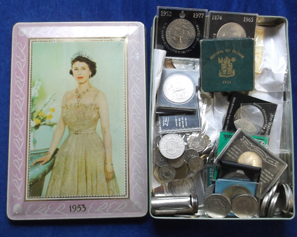 Lot 9 - Coins, a collection of mainly GB coins inc. several crowns, noted Festival of Britain 1951, also run