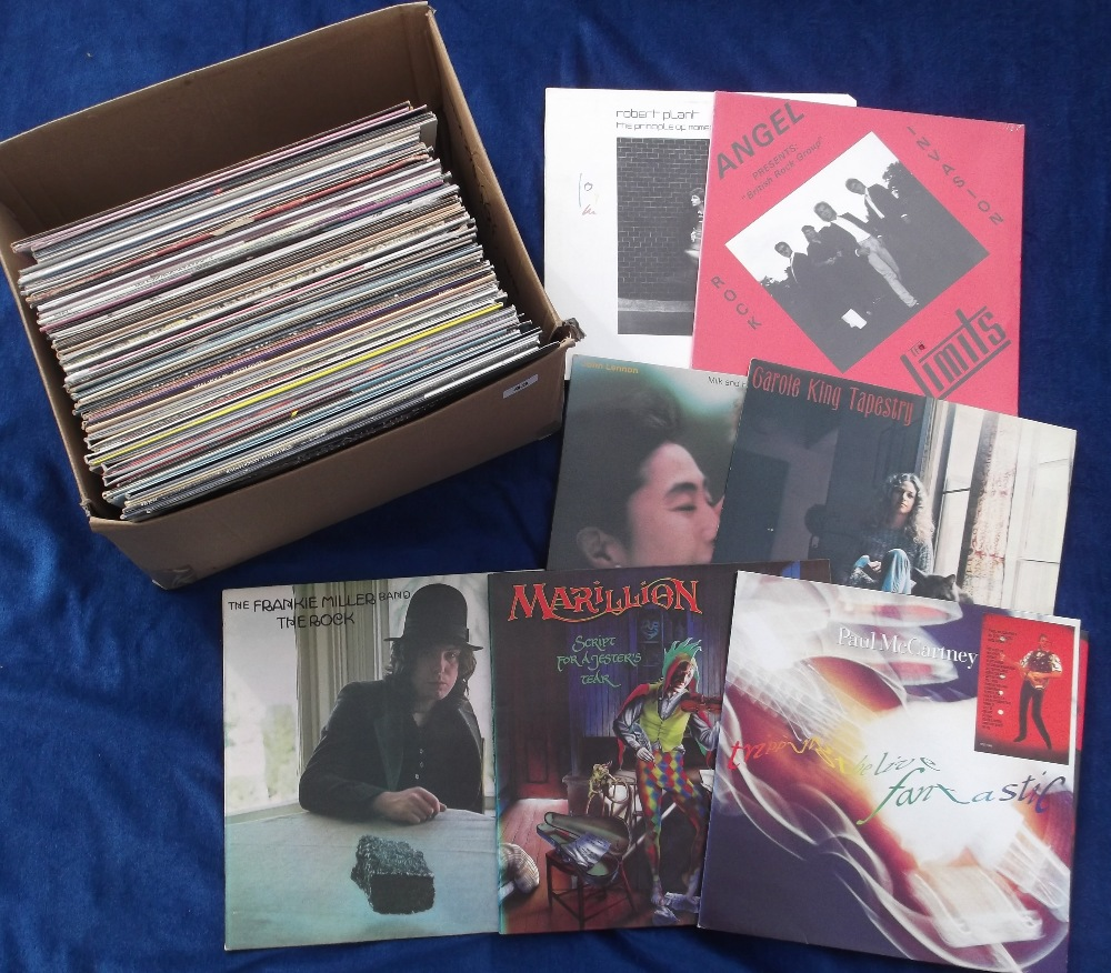 """Lot 43 - Vinyl Records, a selection of 60+ albums and 12"""" singles, to include demo discs, some duplication,"""