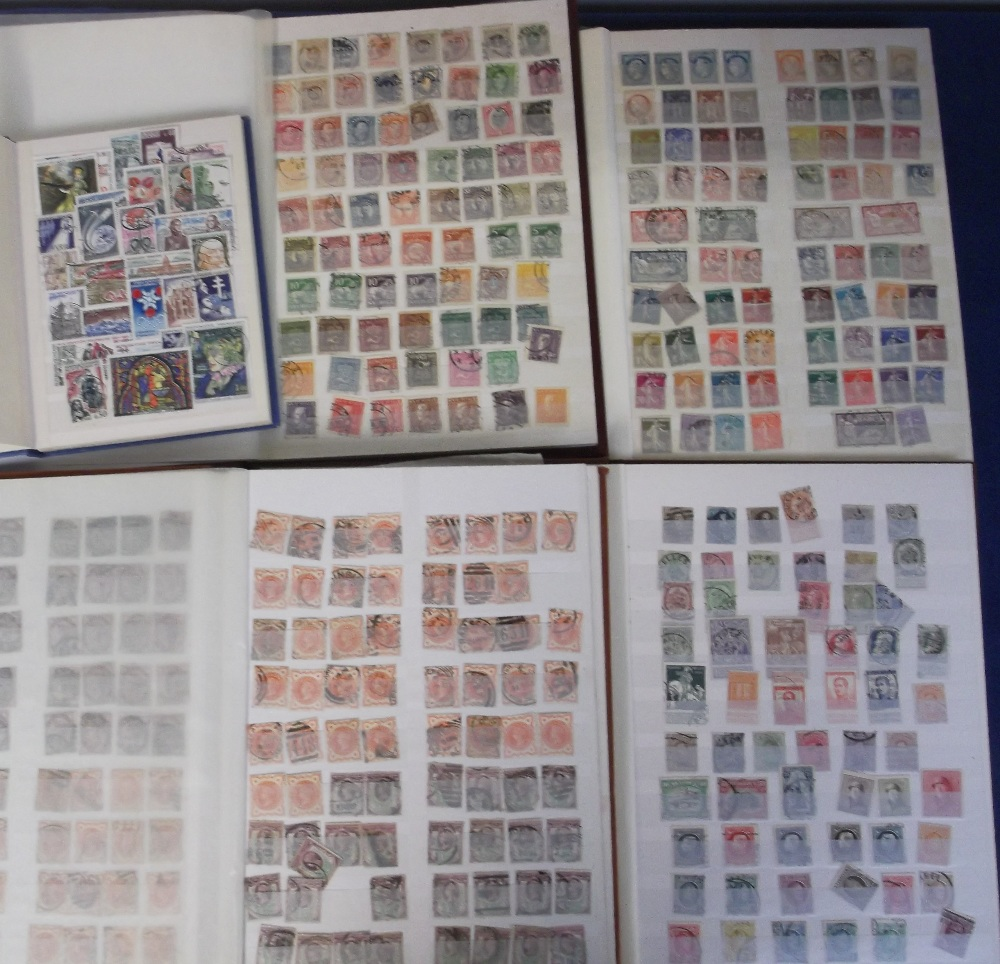 Lot 17 - Stamps, various collections in 5 stockbooks inc. GB QV - George V, mainly used, a collection of