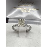 1.66ct CUSHION CUT DIAMOND SOLITAIRE RING ***NO RESERVE***