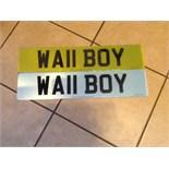 Wa11 boy. With retention certificate