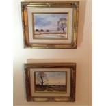 Pair of original framed oil paintings signed James j Allen
