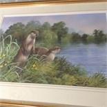 Signed framed original watercolour niel cox