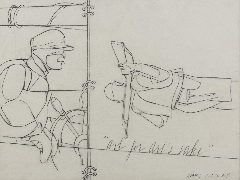 Lot 3 - VALERIO ADAMI (Bologna 1935) Art for art's sake, 1978
