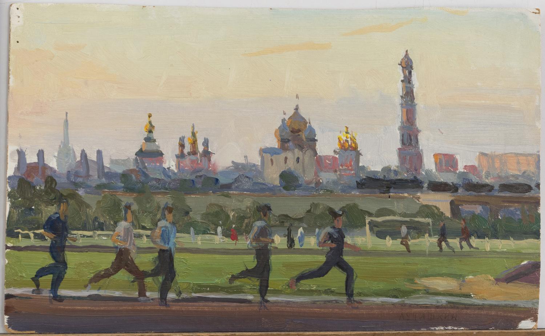 Lot 35 - SERGEI ALEKSEEVICH LUCHISHKIN (Mosca 1902 - 1989) Corridori, 1963