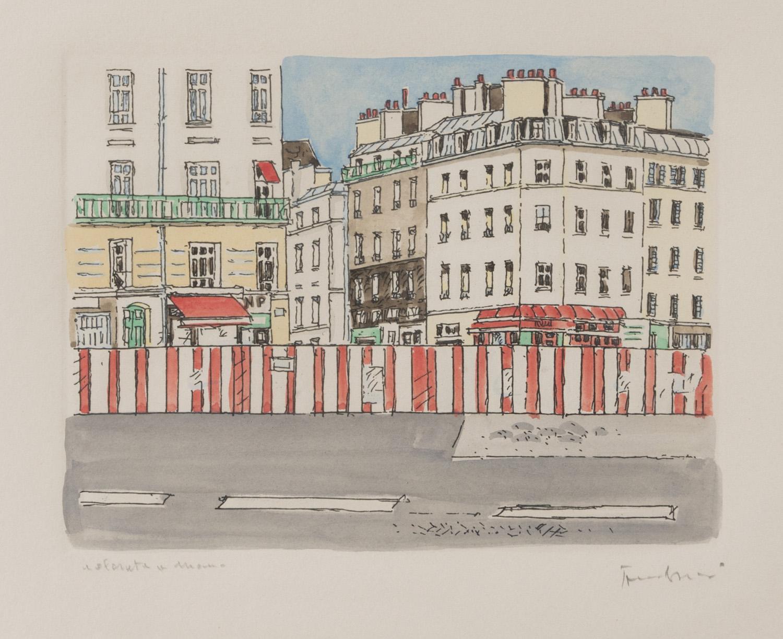 ORFEO TAMBURI (Jesi 1910 - Parigi 1994) Veduta di città