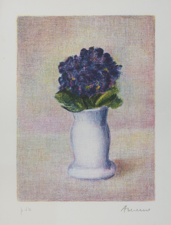 Lot 44 - ANTONIO BUENO (Berlino 1918 - Firenze 1984) Vaso di fiori