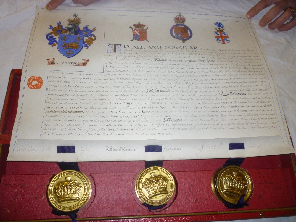 Lot 243 - An unusual George V illuminated armorial