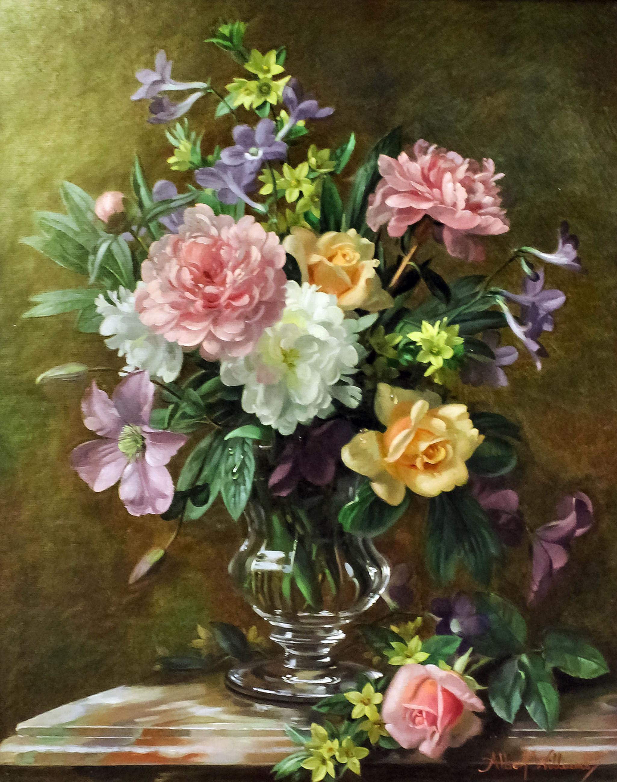 Albert Williams (born 1922) - Oil painting - Still life ...