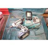 MAKITA 18 V DRIVER WITH (2) BATTERIES & CHARGER