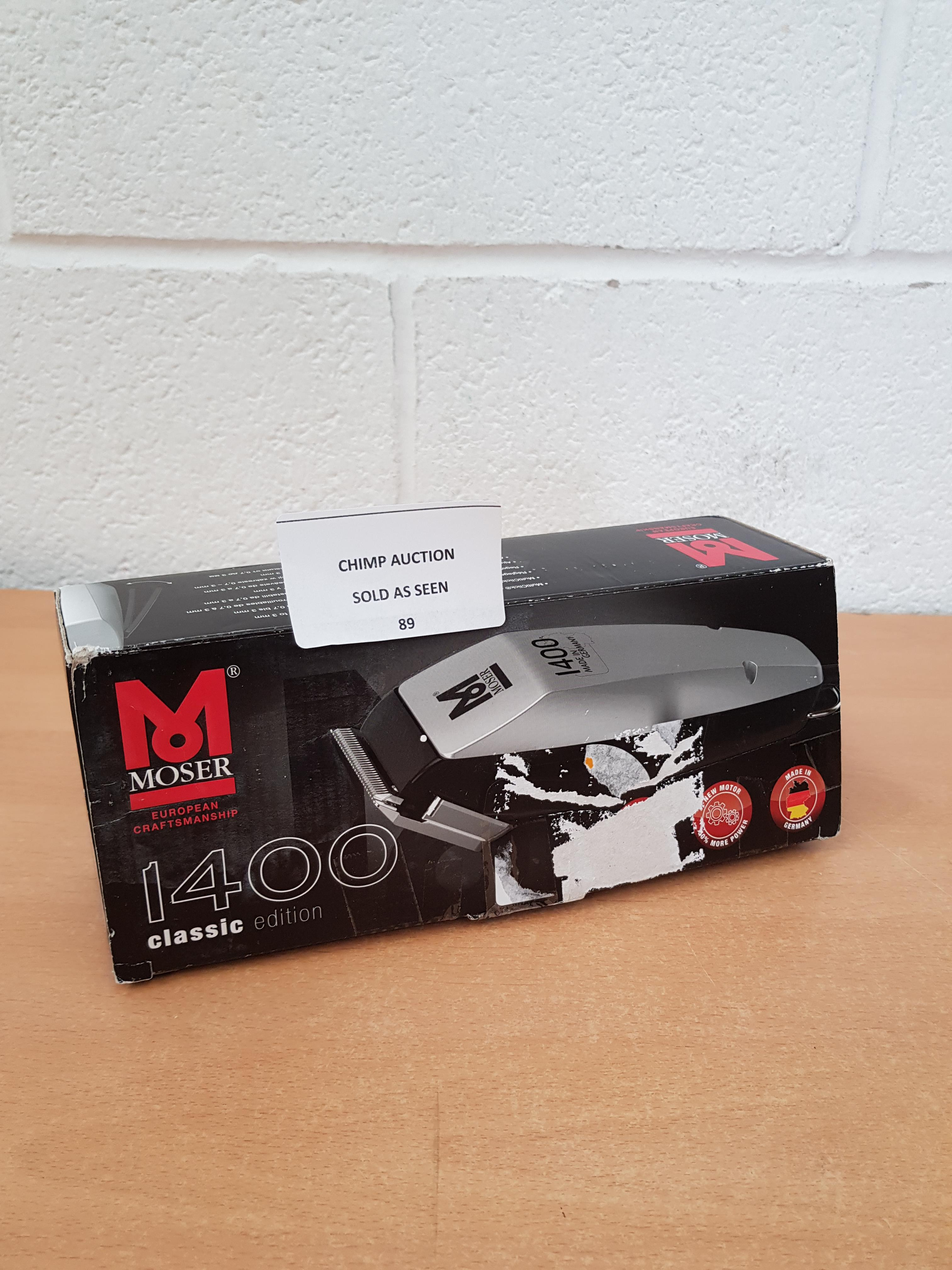 Lot 89 - Moser 1400 Classic Edition Hair trimmer RRP £79.99