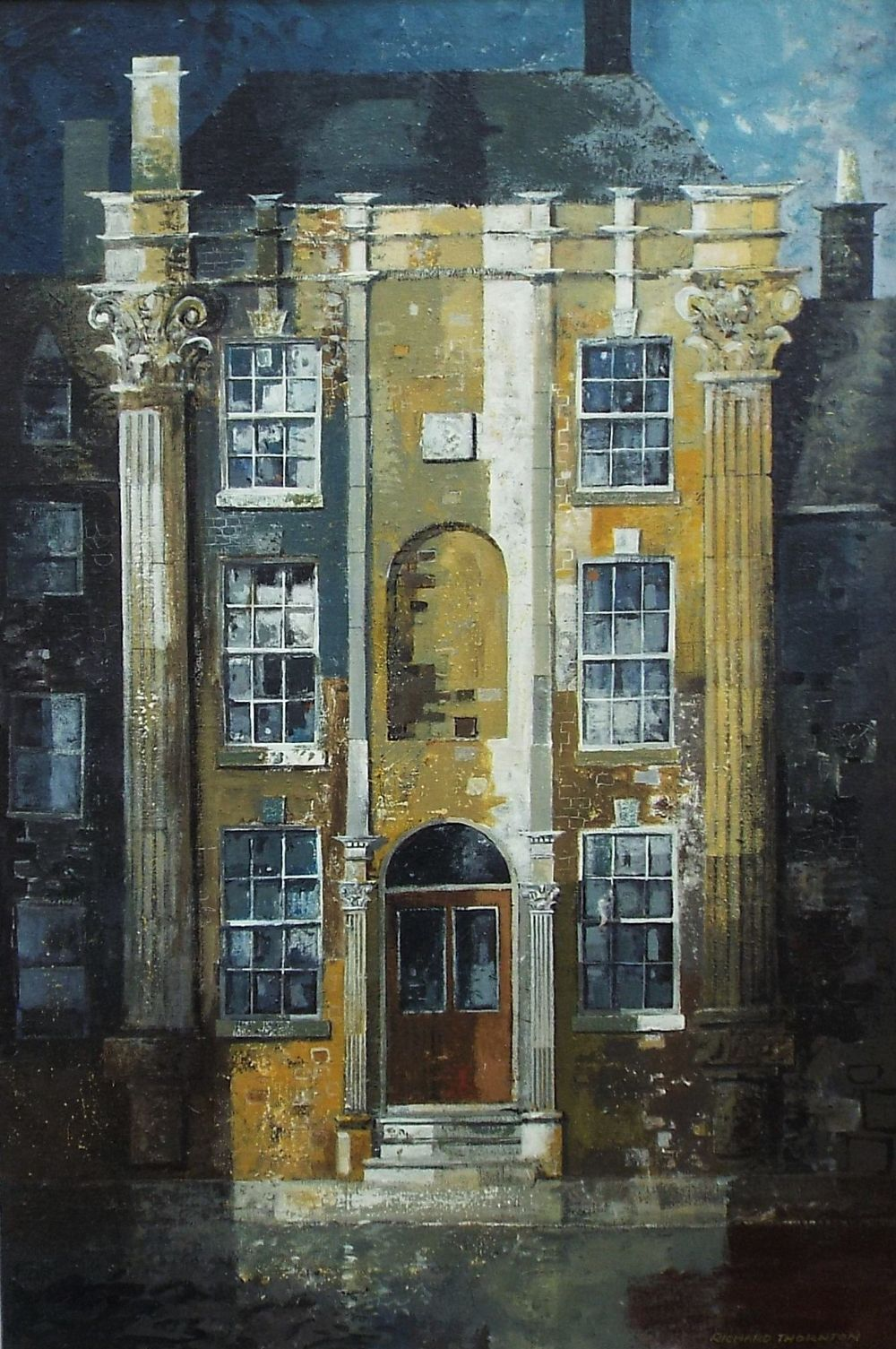 Richard Thornton (B.1922) - 'House at Stow-on-the-Wold', signed, signed and titled verso, oil on