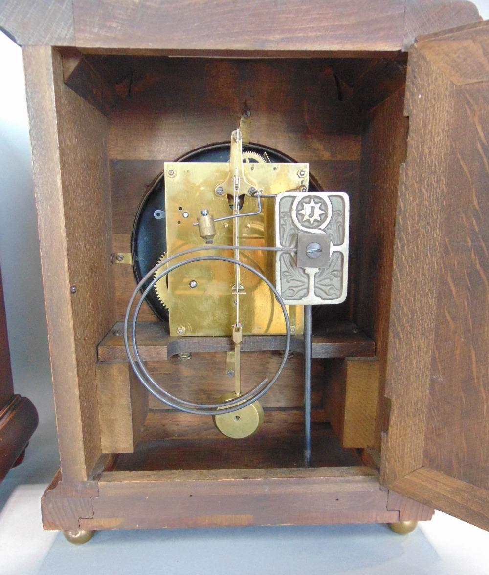 Three Edwardian two train lancet mantel clocks - Image 2 of 3