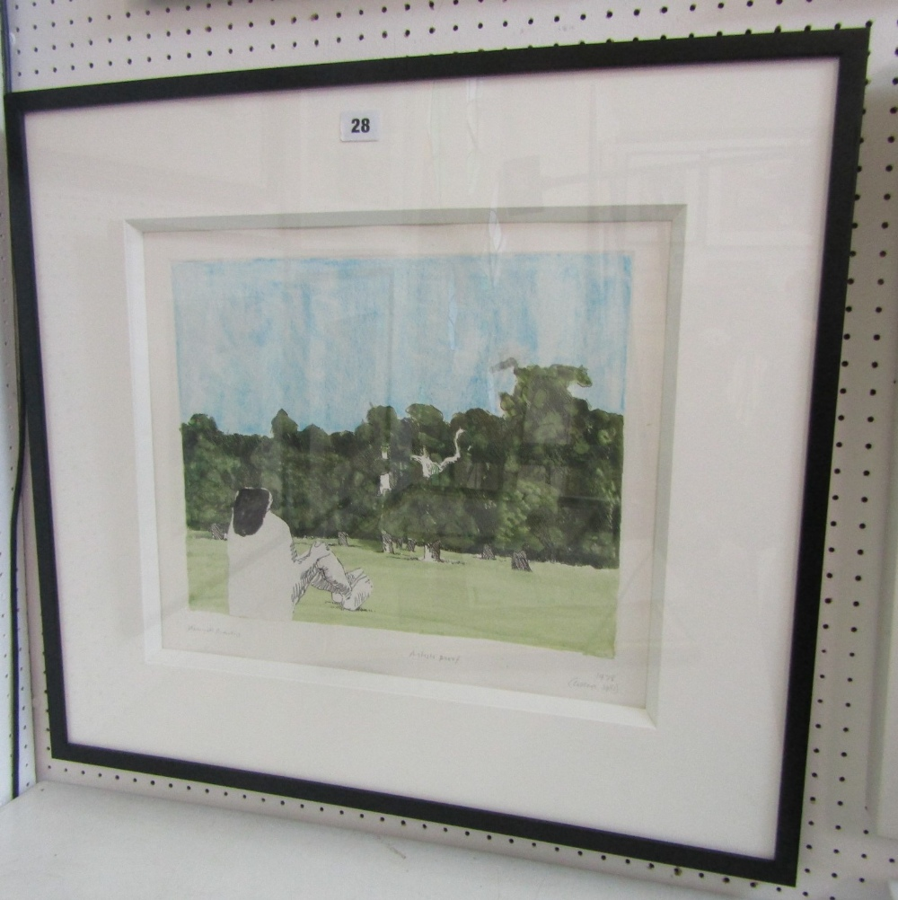 Kennith Armitage (1916-2002) - 'Park Scene', signed and dated 1978-1981, mixed media artist proof, - Image 4 of 4