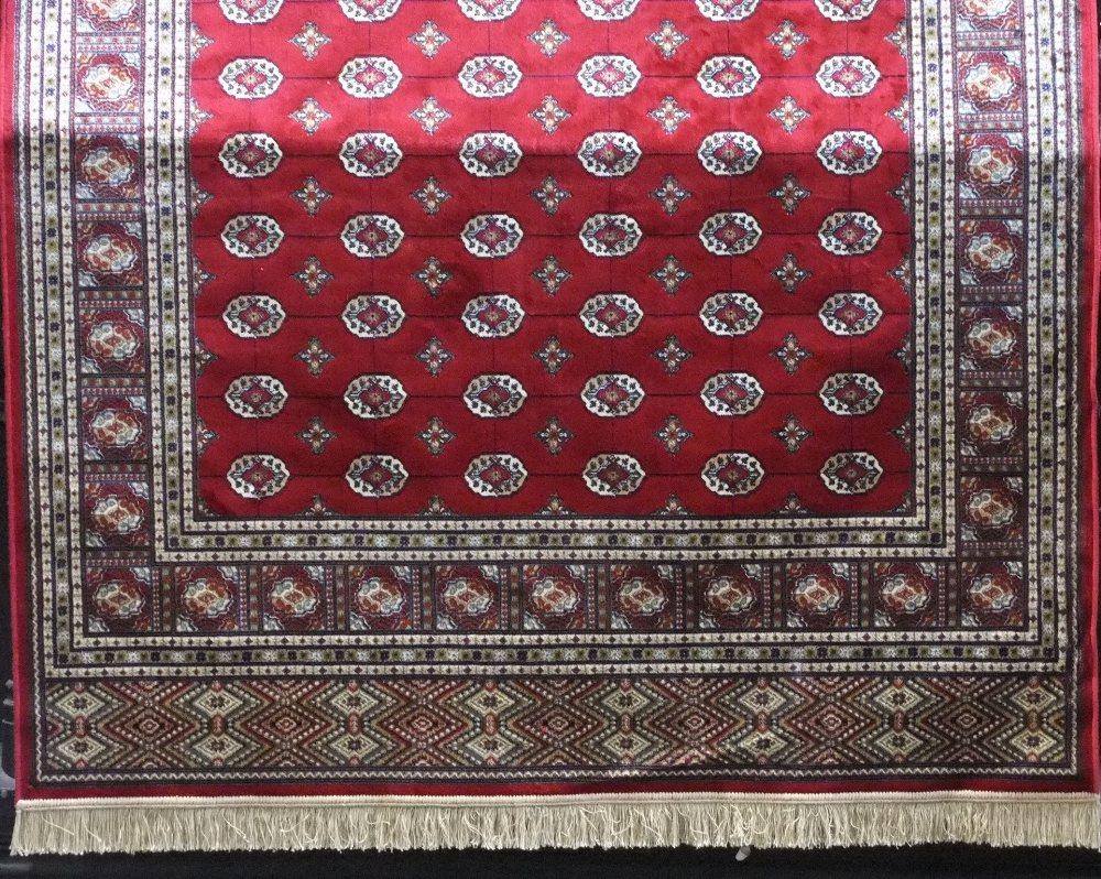 Kashmir Bokhara, red ground, 230 x 155cm