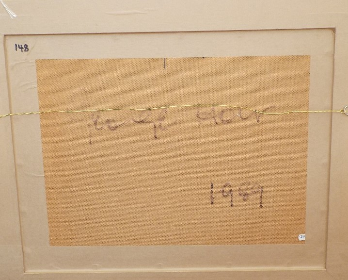 George Holt (1924-2005) - 'Untitled', signed and dated 1989 verso, Mixed Media, 43 x 57cm, framed - Image 3 of 4