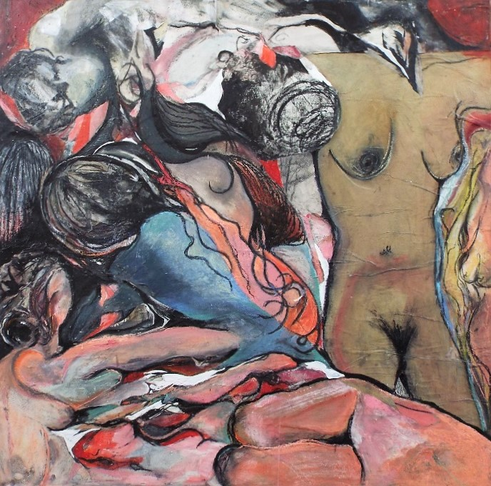 Toose Morton (20th/21st century) - 'The Orgy', signed and dated 2015 verso, further inscriptions