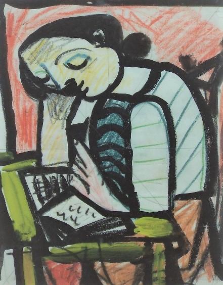 Carlos Canero (1922-1980, French/Uruguay) - 'Untitled', Mixed Media, 26 x 20cm, framed