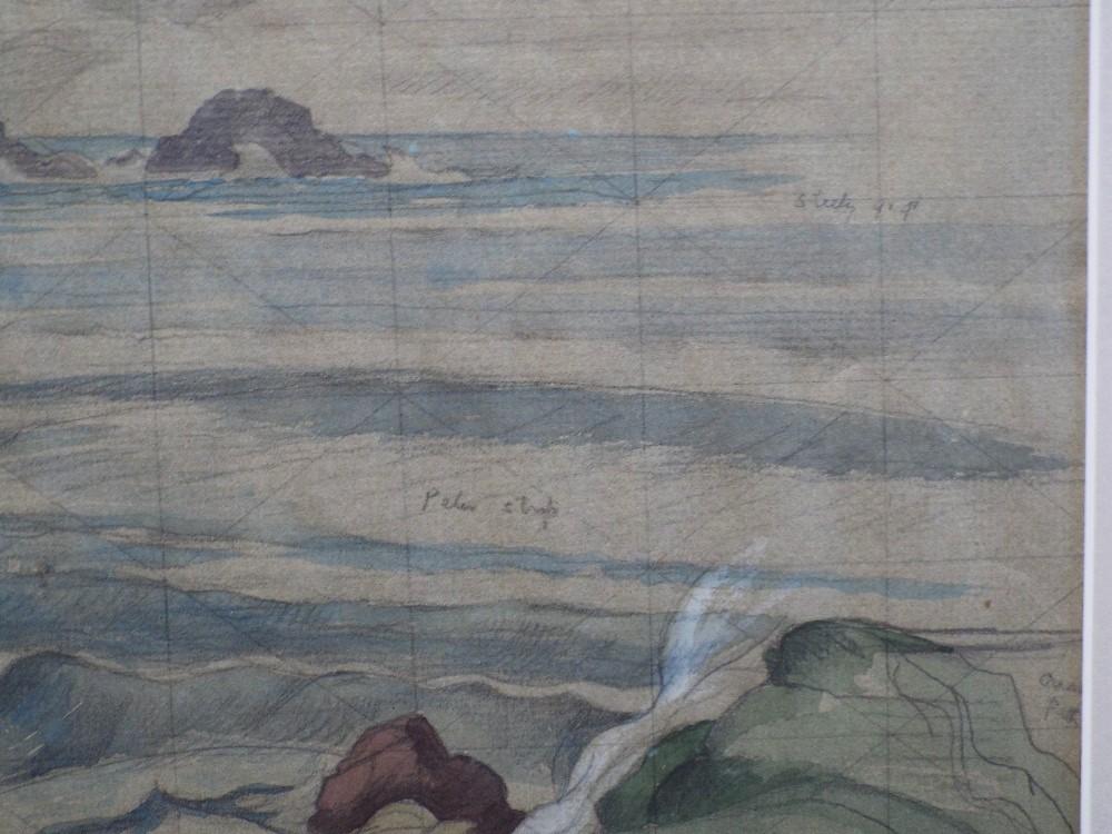 John Northcote Nash (1893-1977) - Coastal Scene, signed, ex-Christies consignment label verso, - Image 3 of 4