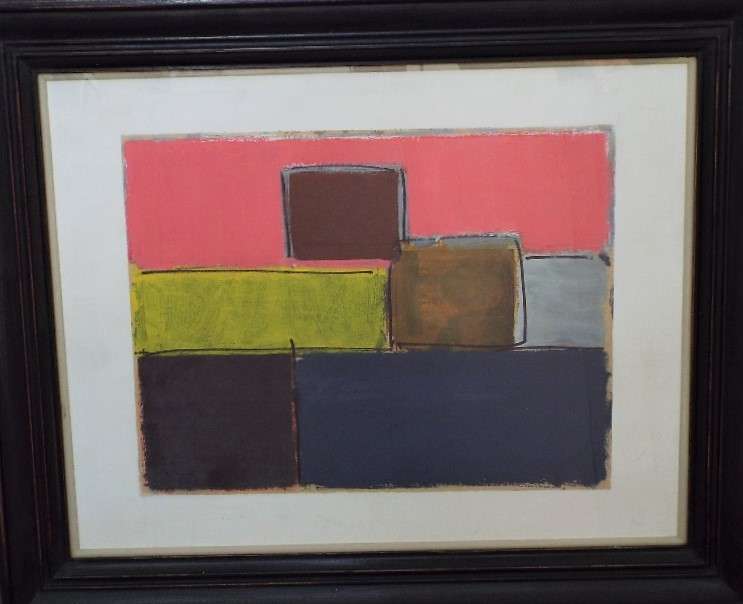 George Holt (1924-2005) - 'Untitled', signed and dated 1989 verso, Mixed Media, 43 x 57cm, framed - Image 2 of 4