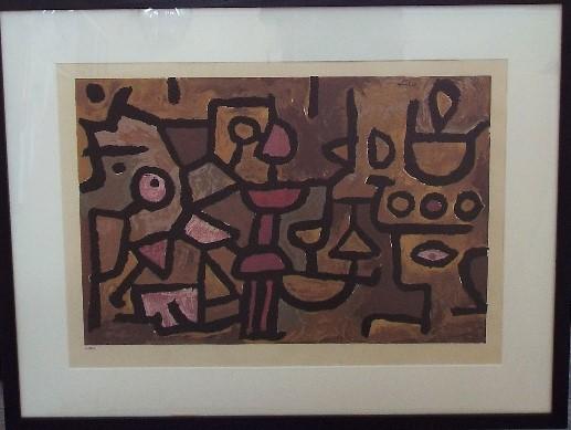 Lot 79 - Paul Klee (1879-1940, Swiss) - Untitled, 215/300 serigraph, 34 x 53cm, framed