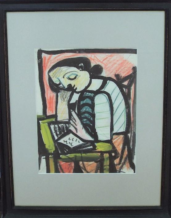 Carlos Canero (1922-1980, French/Uruguay) - 'Untitled', Mixed Media, 26 x 20cm, framed - Image 2 of 3