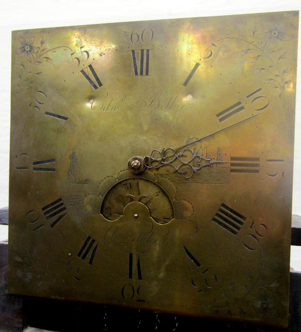 A Georgian mahogany longcase clock by Edward Bilbie of Chew Stoke, the square brass dial with etched - Image 7 of 7