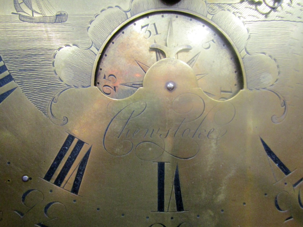 A Georgian mahogany longcase clock by Edward Bilbie of Chew Stoke, the square brass dial with etched - Image 3 of 7