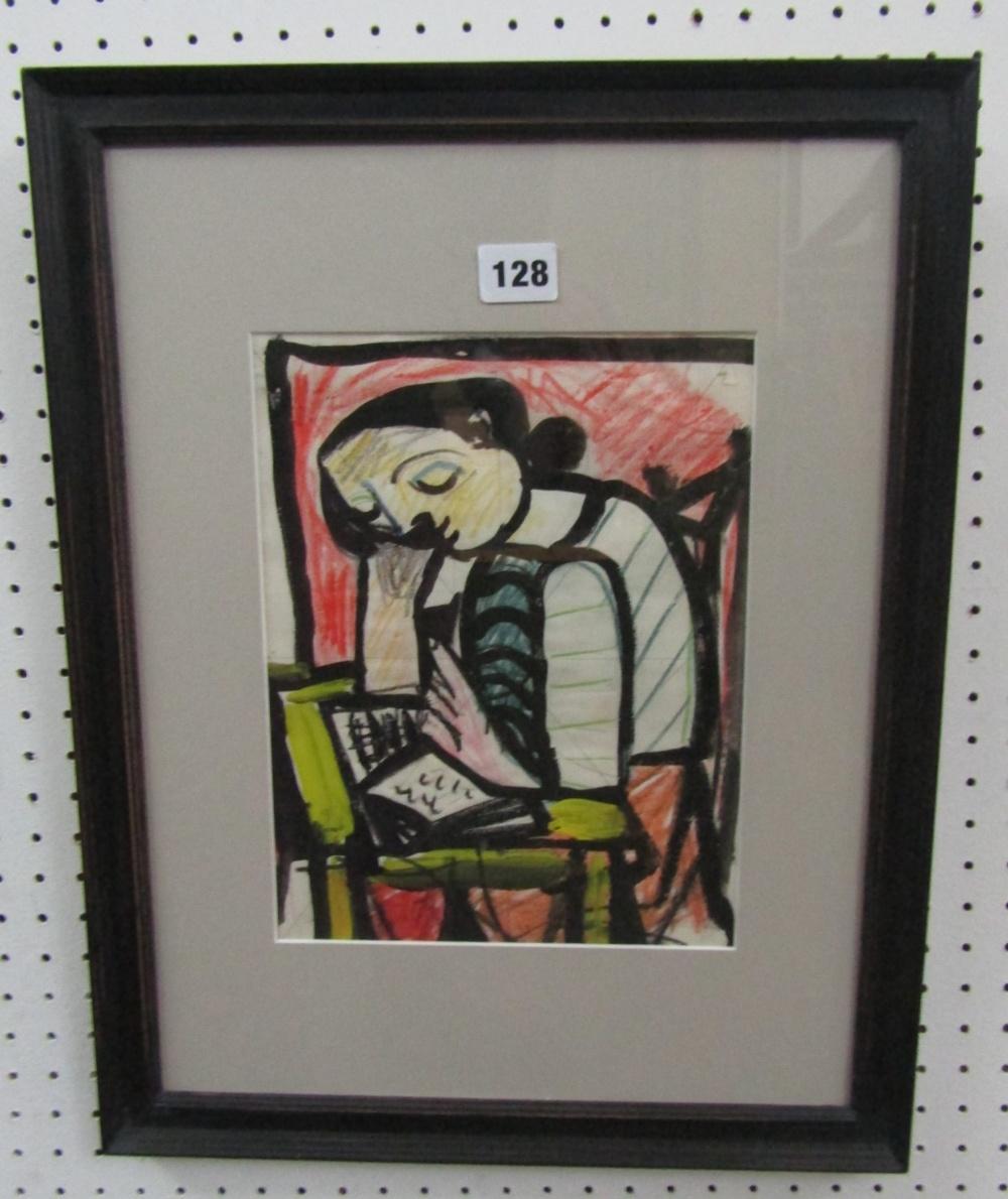 Carlos Canero (1922-1980, French/Uruguay) - 'Untitled', Mixed Media, 26 x 20cm, framed - Image 3 of 3