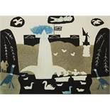 Julian Trevelyan (1910-1988) - 'St James' Park', signed, etching with aquatint, 69/75, 35 x 48cm,