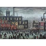 Laurence Stephen Lowry (1887-1976) - 'Our Town', signed, 560/850 lithograph, the mount inscribed '