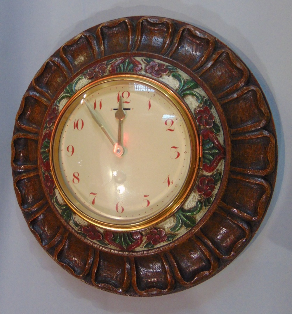 A collection of five various vintage wall clocks to include a 31 day clock with day/date aperture, a - Image 3 of 3