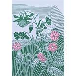 Edward Bawden (1903-1989) - 'Campion and Colombine', 44/500 lithograph, 25 x 18cm, framed