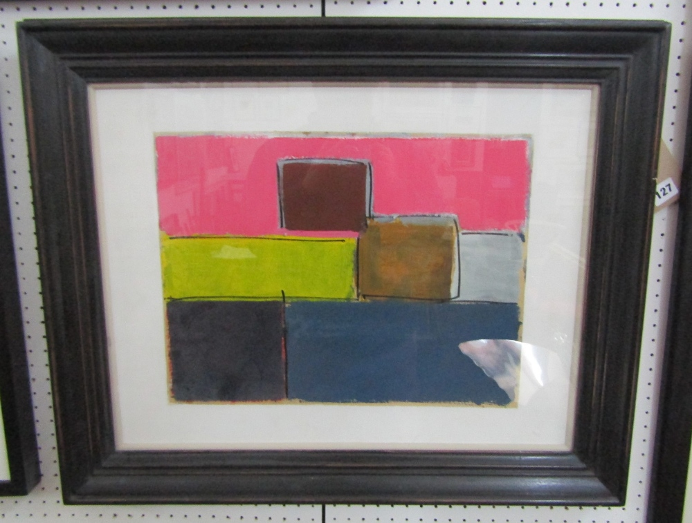 George Holt (1924-2005) - 'Untitled', signed and dated 1989 verso, Mixed Media, 43 x 57cm, framed - Image 4 of 4