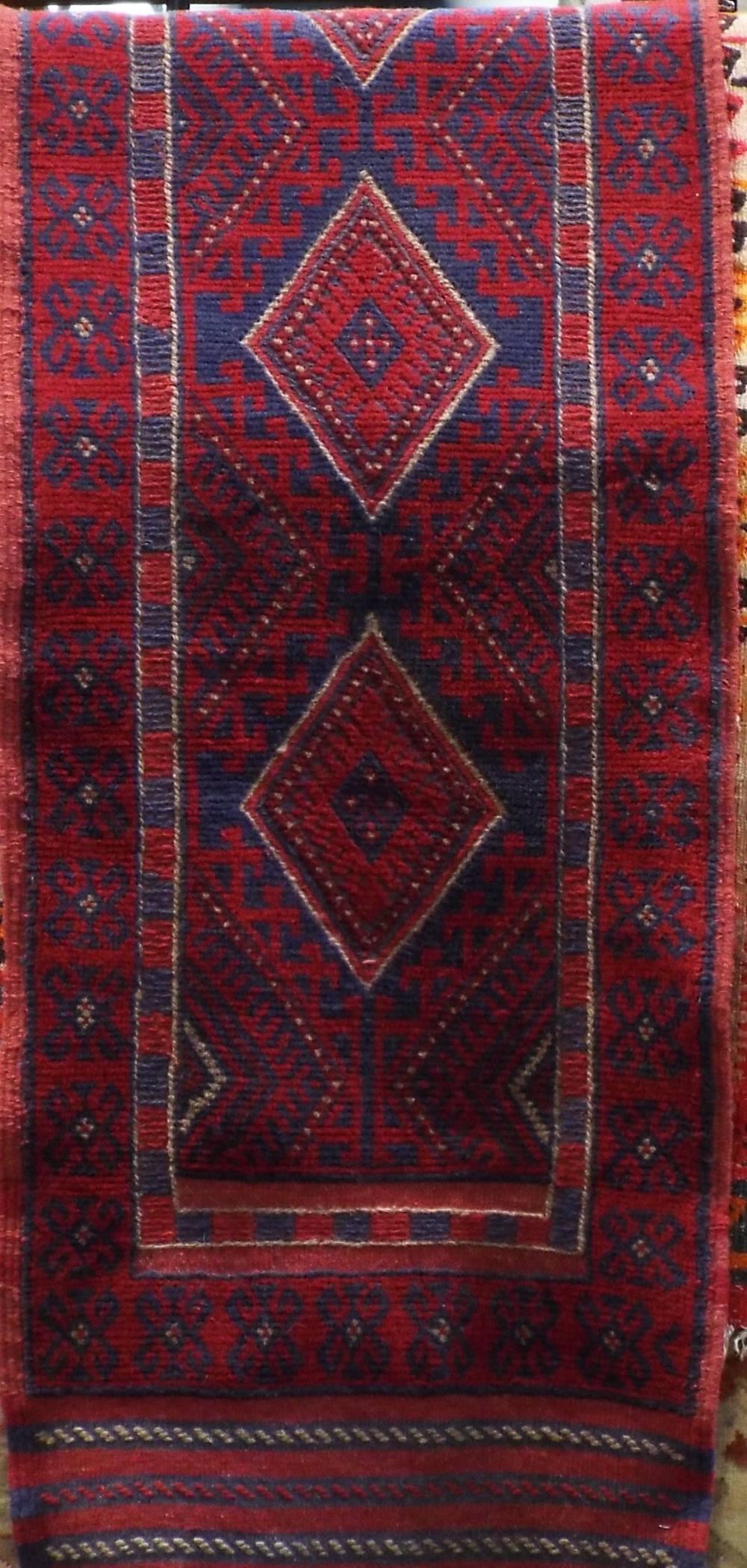 Lot 1446 - Meshwari runner, 244 x 62cm