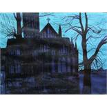 Robert Tavener (1920-2004) - 'Salisbury Cathedral No.2', signed and dated 1966, linocut, 18/25, 43 x