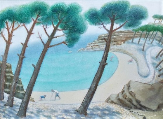 Jonathan Armigel Wade (B.1960) - 'Sea Mist Clearing', signed, oil on board, 45 x 60.5cm, framed