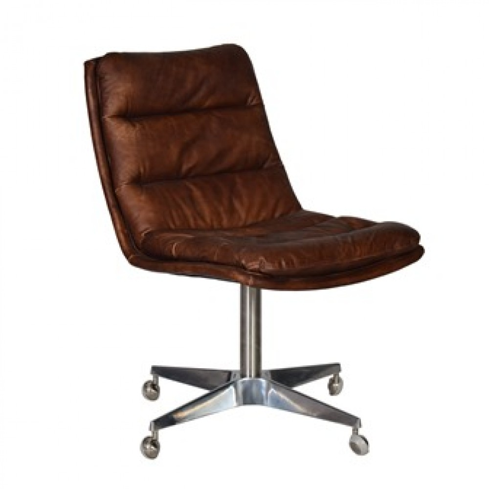 Lot 295 - Malibu Dining Chair Ride Black Leather 1970's Sporty-Chic Era Inspired, The Malibu Dining Chair